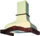 Вытяжка купольная Best Corinna 60 650м3/ч (слоновая кость/вишня) -