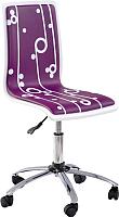 Кресло офисное Halmar Fun 4 (фиолетовый) -