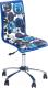 Кресло офисное Halmar Fun 8 (бело-голубой) -