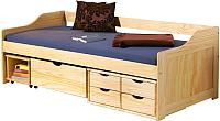 Односпальная кровать Halmar Maxima (сосна) -