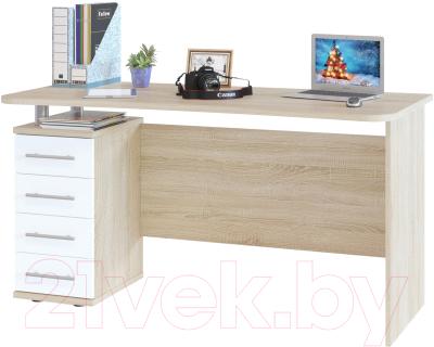 Письменный стол Сокол-Мебель КСТ-105.1 (дуб сонома/белый)