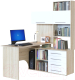 Компьютерный стол Сокол-Мебель КСТ-14 (правый, дуб сонома/белый) -