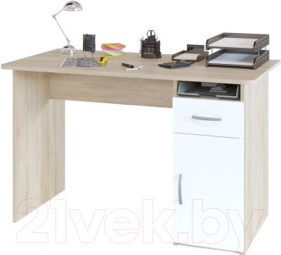 Письменный стол Сокол-Мебель СПМ-03.1 (дуб сонома/белый)