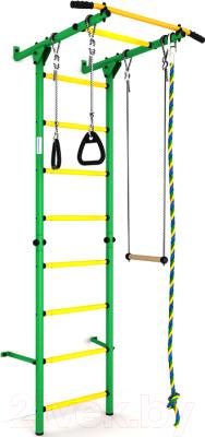 Детский спортивный комплекс Romana S1 ДСКМ-2С-8.06.Г3.490.01-13 (зеленый/желтый)