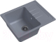 Мойка кухонная Ewigstein Elegant 45F (серый металлик) -