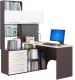 Компьютерный стол Сокол-Мебель КСТ-14 (левый, венге/беленый) -
