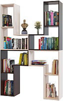 Стеллаж Сокол-Мебель Из 4 модулей (беленый дуб/венге) -