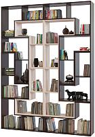 Стеллаж Сокол-Мебель Из 12 модулей (беленый дуб/венге) -
