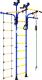 Детский спортивный комплекс Romana Карусель R5 ДСКМ-2-8.06.Т1.410.03-14 (синий/желтый) -