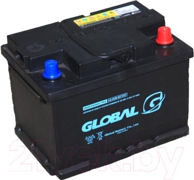 Автомобильный аккумулятор Global 6СТ-60 SMF R (60 А/ч)