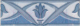 Бордюр Березакерамика Елена цветок синий (200x70) -
