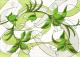 Декоративная плитка Березакерамика Капри ирис салатный (250x350) -