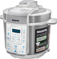 Мультиварка-скороварка Marta MT-4312 (белый/сталь) -