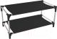 Полка для обуви Sheffilton SHT-SR4 (черный/хром) -