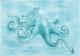 Декоративная плитка Березакерамика Лазурь осьминог бирюзовый (250x350) -