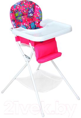 Стульчик для кормления Дэми КДС.03 (белый/розовый)