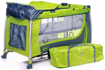 Кровать-манеж 4Baby Moderno (зеленый)