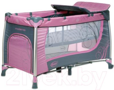 Кровать-манеж 4Baby Moderno (фиолетовый)