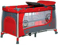 Кровать-манеж 4Baby Moderno (красный) -