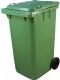 Контейнер для мусора Титан Мета 240л (зеленый) -