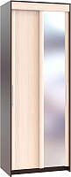 Шкаф Сокол-Мебель ШР-96.2 с зеркалом (венге/беленый дуб) -