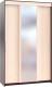 Шкаф Сокол-Мебель ШР-156.3 с зеркалом (венге/беленый дуб) -