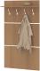 Вешалка для одежды Сокол-Мебель ВШ-3.1 (ясень шимо) -