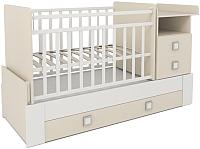 Детская кровать-трансформер СКВ 830039-1 (бежевый/белый) -