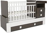 Детская кровать-трансформер СКВ 830038-1 (венге/белый) -
