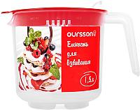Емкость для взбивания Oursson JA1500P/RD (красный) -