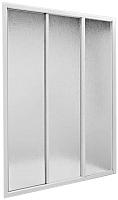 Стеклянная шторка для ванны BAS 3 створки (150x145) -