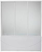 Пластиковая шторка для ванны BAS 3 створки (170x145) -