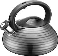 Чайник со свистком Peterhof PH-15554 (черный) -