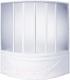 Пластиковая шторка для ванны BAS Риола 135x135 -