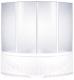 Пластиковая шторка для ванны BAS Дрова 160x160 -