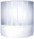 Пластиковая шторка для ванны BAS Мега 160x160 -