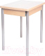Обеденный стол Древпром Компакт 50x70 (металлик/дуб сонома) -