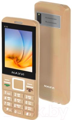 Мобильный телефон Maxvi K10 (золото)