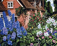 Картина по номерам Menglei Летом в деревне (MG014) -