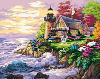Картина по номерам Menglei Дом у маяка (MG115) -