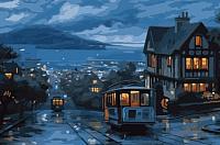 Картина по номерам Menglei Ночной трамвай (MMC082) -