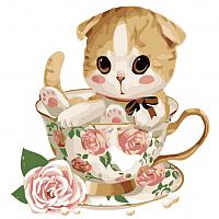 Картина по номерам Picasso Котенок в чашке №4 (PC3030004) -