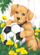 Картина по номерам Picasso Щенок и мячик (PC3040002) -