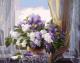 Картина по номерам Picasso Сирень на окне (PC4050171) -