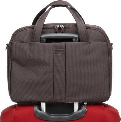 Сумка для ноутбука Samsonite Cordoba Duo Brown (V93-03015) - крепление на чемодане