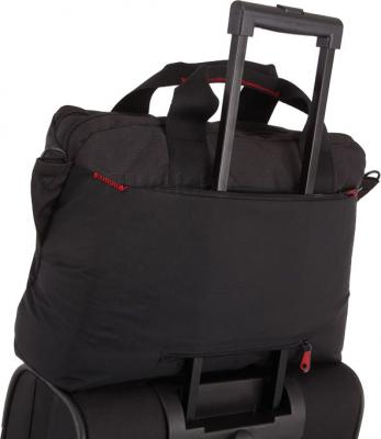 Сумка для ноутбука Samsonite Finder Black (U42-09005) - крепление на чемодане