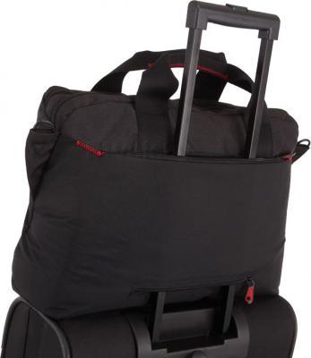 Сумка для ноутбука Samsonite Finder Black (U42-09006) - крепление на чемодане