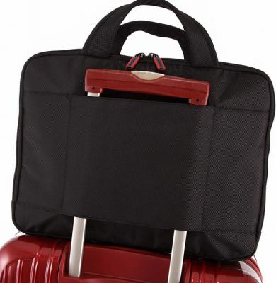 Сумка для ноутбука Samsonite Flexxea Black-Red (11U-09002) - крепление на чемодане