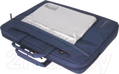 Сумка для ноутбука Tucano WorkOut Blue (WOPC-XL-B) - вид в проекции