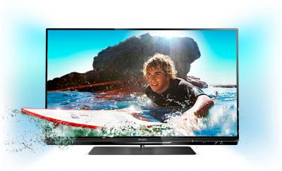 Телевизор Philips 32PFL6008T/60 - общий вид с подсветкой
